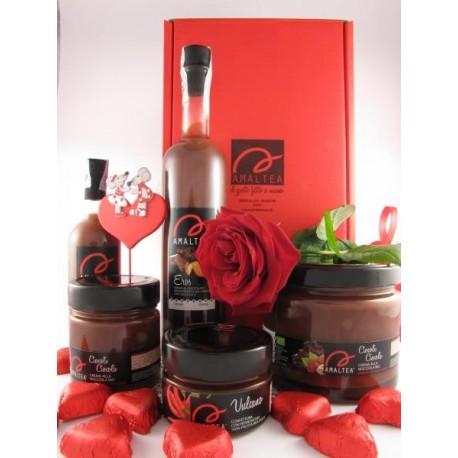 Eros 20cl + Vulcano 120g + Ciocolì 240g + 3 cioccolatini fondenti