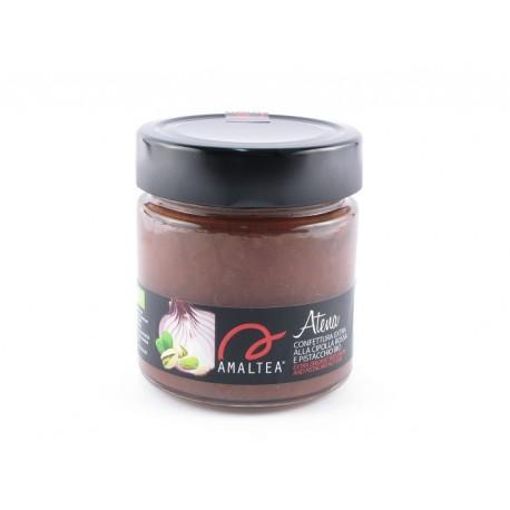 Atena 240g confettura biologica di cipolla rossa e pistacchio siciliano