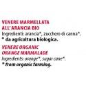 Ingredienti Venere 240g marmellata biologica all'arancia