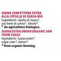 Ingredienti Diana 120g confettura biologica extra alla cipolla di Suasa