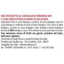 Ingredienti Rea tavoletta cioccolato fondente con Cloe confettura alla mora di gelso biologica