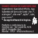 Ingredienti Ermes crema di carciofi bio